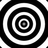 Circular target. Illustration of black and white circular target Stock Illustration