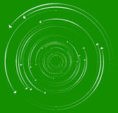 Concentric, circular arrows. Random dynamic circle arrows. Royalty Free Stock Photo
