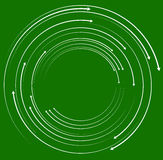 Concentric, circular arrows. Random dynamic circle arrows. royalty free illustration