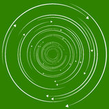 Concentric, circular arrows. Random dynamic circle arrows. Royalty Free Stock Photography
