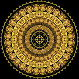 Concentric circular ornament Royalty Free Stock Image