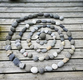 Concentric cirlce. Made up of pebbles Royalty Free Stock Image