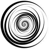 Concentric - converging circles. Abstract vortex, spiraling grap. Hics. - Eps 10 Vector Illustration Royalty Free Stock Photography