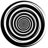 Concentric - converging circles. Abstract vortex, spiraling grap. Hics. - Eps 10 Vector Illustration Stock Photo