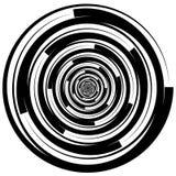 Concentric - converging circles. Abstract vortex, spiraling grap. Hics. - Eps 10 Vector Illustration Stock Image