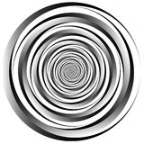 Concentric - converging circles. Abstract vortex, spiraling grap. Hics. - Eps 10 Vector Illustration Stock Images