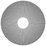 Concentric dashed line circles - Abstract geometric element on w Royalty Free Stock Photography