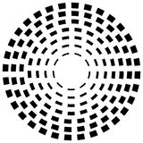 Concentric dashed line circles - Abstract geometric element on w Stock Images