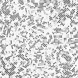 Concentric dotted black background Stock Images