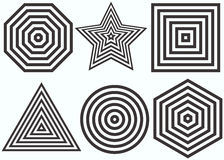 Concentric figures. Vector illustration. Stock Images