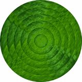 Concentric green circles in mosaic. Illustration, Green button in mosaic style vector illustration