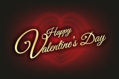 Concentric hearts with above written in good gold valentines Royalty Free Stock Images