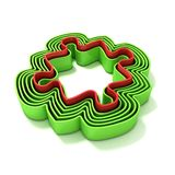 Concentric jigsaw puzzle outlined pieces Royalty Free Stock Photos