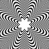 Concentric lines with distortion. Radial lines, radiating patter. N with deformation effect - Royalty free vector illustration Royalty Free Stock Images