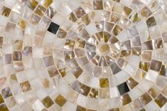 Concentric mosaic background Royalty Free Stock Photo