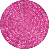 Concentric pink circles in mosaic. Illustration, Pink button in mosaic style vector illustration