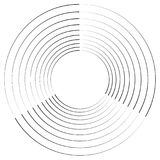 Concentric, radial circles circular element. abstract black and. White design - Royalty free vector illustration vector illustration