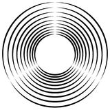 Concentric, radial circles circular element. abstract black and. White design - Royalty free vector illustration royalty free illustration