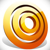 Concentric, radial circles generic icon, design element. Royalty free vector illustration vector illustration