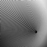 Concentric radial, radiating circles - Abstract monochrome geome. Tric element - Royalty free vector illustration royalty free illustration