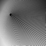 Concentric radial, radiating circles - Abstract monochrome geome. Tric element - Royalty free vector illustration vector illustration