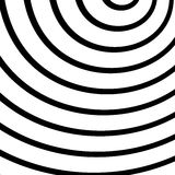 Concentric, radiating circles, rings. Radial abstract element. Royalty free vector illustration Royalty Free Illustration