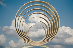 Concentric rings. Against the blue sky Stock Photography