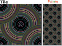 Concentric rings. Abstract background. Computer generated. Multicolor concentric circle seamless pattern fashion design tile Colorful  random concentric circles Royalty Free Stock Photo