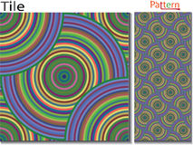 Concentric rings. Abstract background. Computer generated. Multicolor concentric circle seamless pattern fashion design tile Colorful  random concentric circles Royalty Free Stock Photos