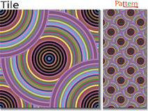 Concentric rings. Abstract background. Computer generated vector. Multicolor concentric circle seamless pattern fashion design tile Colorful  random concentric Stock Photography