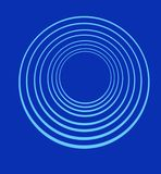 Concentric  rings on blue background Stock Photo