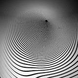Concentric shapes with deformation effect. Abstract grayscale gr Royalty Free Stock Images