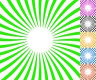 Concentric spirally lines. Circular, twisted sunburst, sunburst Stock Images