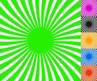 Concentric spirally lines. Circular, twisted sunburst, sunburst Stock Photos