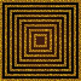Concentric Square Gold Mosaic, Sequin, Glitter, Royalty Free Stock Photography