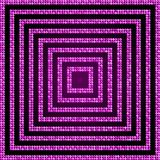 Concentric Square Pink Mosaic, Sequin, Glitter, Royalty Free Stock Images