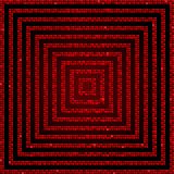 Concentric Square Red Mosaic, Sequin, Glitter, vector illustration