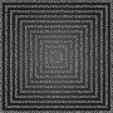 Concentric Square Silver Mosaic, Sequin, Glitter, Royalty Free Stock Image