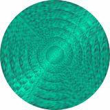 Concentric turquoise circles in mosaic. Illustration, Turquoise button in mosaic style stock illustration