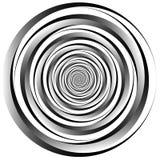 Concentrique - cercles convergents Vortex abstrait, grap se développant en spirales illustration libre de droits