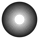 Concentrisch cirkels geometrisch element Radiaal, uitstralend rondschrijven Royalty-vrije Stock Afbeeldingen