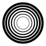 Concentrisch cirkels geometrisch element Radiaal, uitstralend rondschrijven Stock Afbeeldingen
