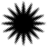 Concentrisch radiaal element Het uitstralen van abstract geometrisch element stock illustratie