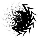 Concentrisch radiaal element Het uitstralen van abstract geometrisch element royalty-vrije illustratie