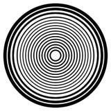 Concentrische cirkels, concentrisch ringen cirkelpatroon Samenvatting royalty-vrije illustratie