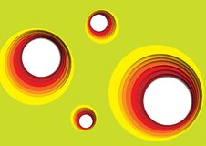 Concentrische cirkels op kleurrijke green Royalty-vrije Stock Afbeelding