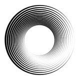 Concentrische cirkels, concentrische ringen Abstracte radiale grafiek royalty-vrije illustratie
