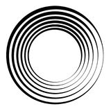 Concentrische cirkels, concentrische ringen Abstracte radiale grafiek vector illustratie