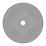 Concentrische cirkels, concentrische ringen Abstracte radiale grafiek stock illustratie