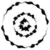 Concentrische cirkels, ringen met misvorming Geometrisch cirkele vector illustratie